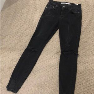 Lovers + Friends Black Ripped Skinny Jeans